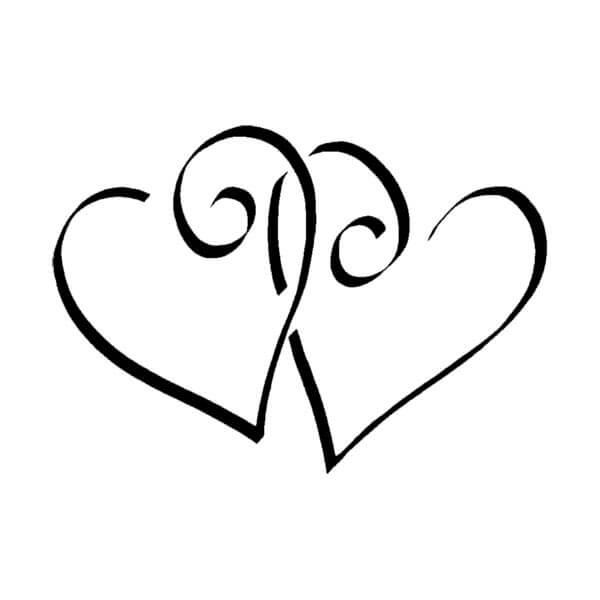 Stempel Zwei Herzen fr Einladungskarten und Liebeserklrung  weddixde