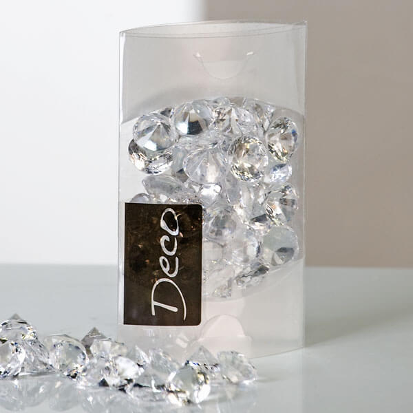Deko Diamanten  glnzende Blickpunkte fr die Hochzeitsdeko  weddixde