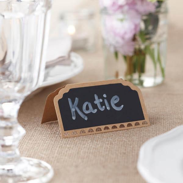 Tischkarten im VintageLook  Tischdeko zur Hochzeit