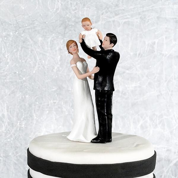 Tortenfigur Babyglck  mit Baby  weddixde