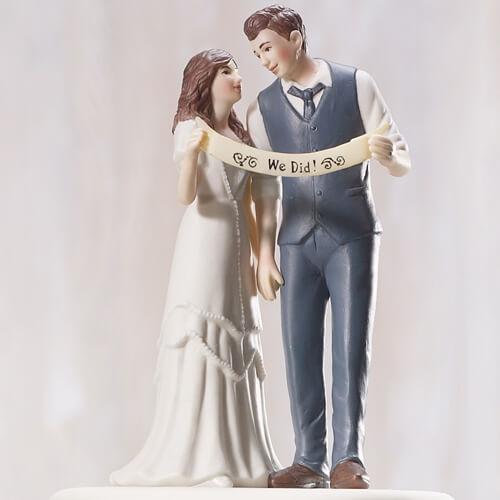 Tortenfigur We did  trendiges Brautpaar  weddixde