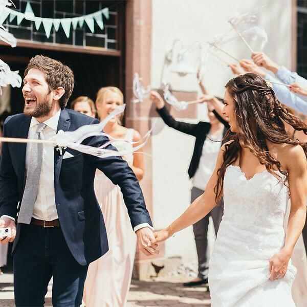 Glckstbe Hochzeit  Wedding Wands in Creme  weddixde