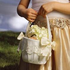 Streukrbchen fr die Hochzeit  Blumenkrbchen fr