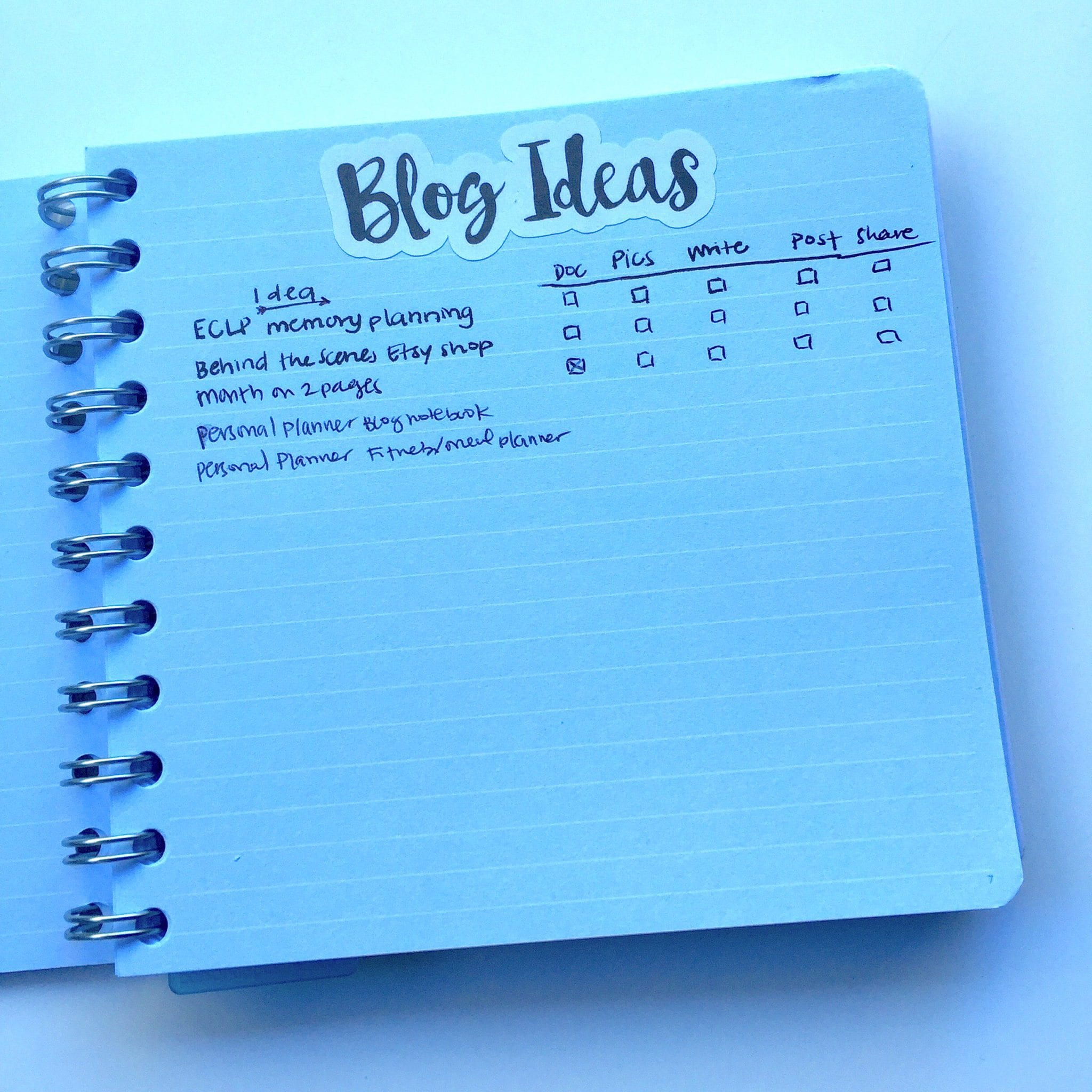 My Blogging Notebook ft. the Personal-Planner Notebook | Wendaful Planning