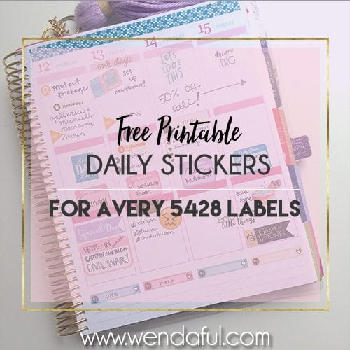 free daily stickers avery 5428 template wendaful planning