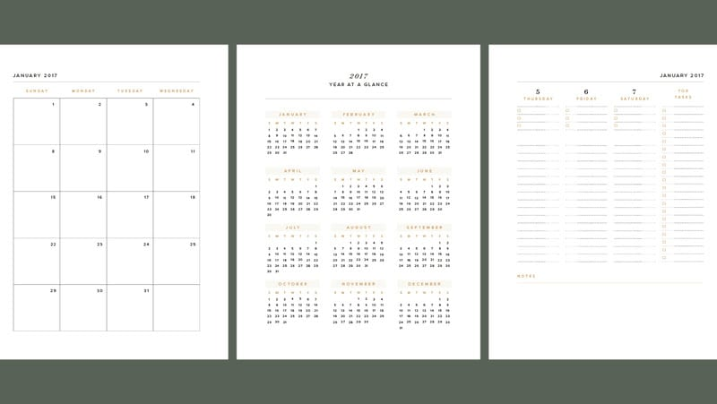 2019 Year-At-A-Glance Planner Insert + Automating