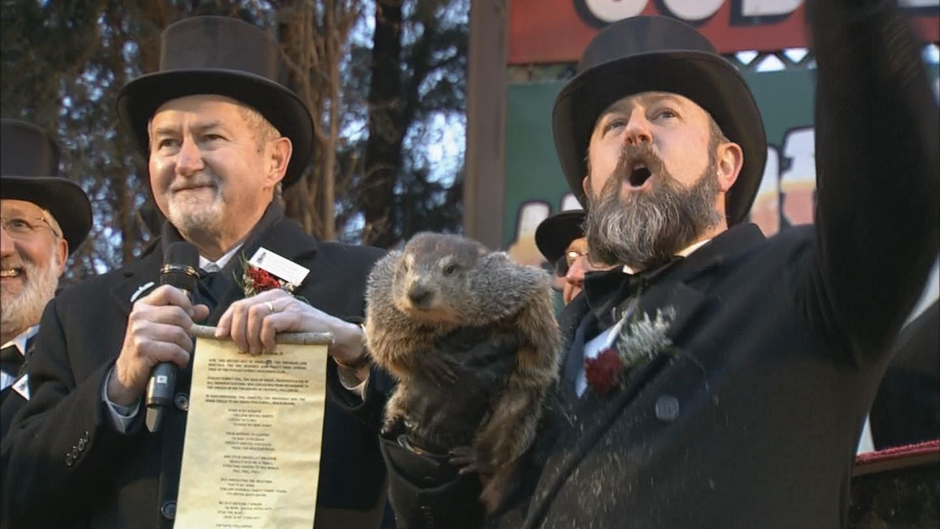 Groundhog Doesn T See His Shadow Predicting Early Spring