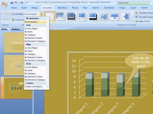 Membuat Animasi Grafik PowerPoint 2007