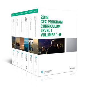 CFA Program Curriculum 2018 Level I Volumes 1 6 Box Set