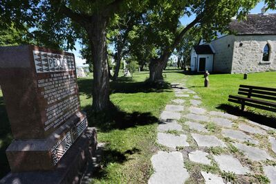 The St. Peter's Dynevor Anglican Church is the only thing left of the once-vibrant St. Peter's reserve, home of Chief Peguis and his community. (Ruth Bonneville / Winnipeg Free Press)