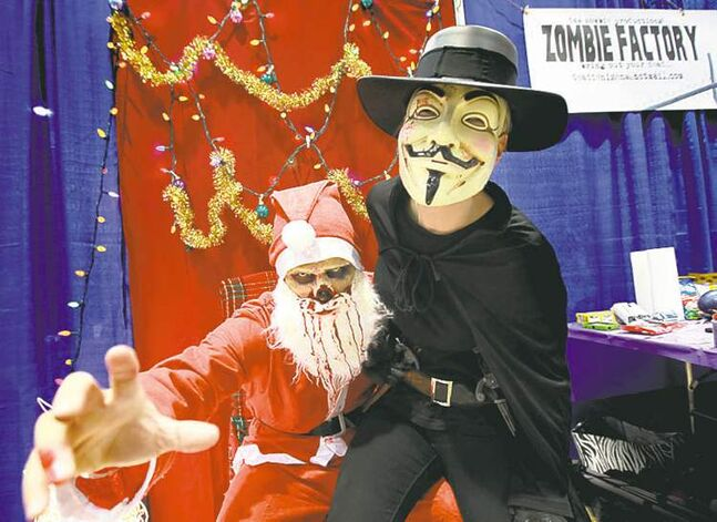 santa claus zombie guy fawkes anonymous zombies factory