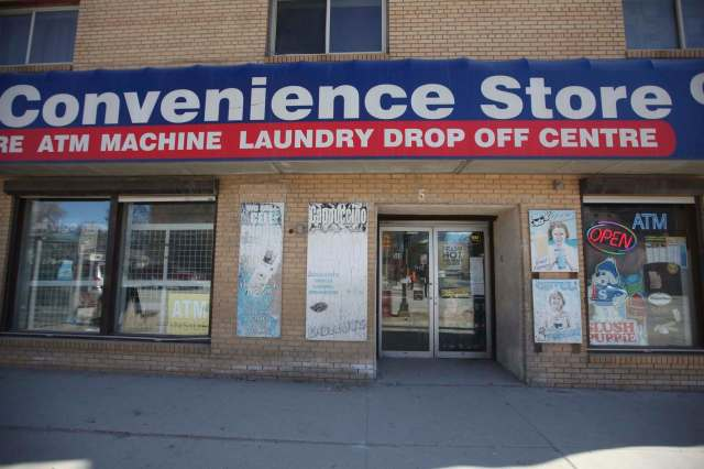 <p>The convenience store co-owned by Amare Gebru and his female business partner, who's murder he was convicted of plotting.</p>