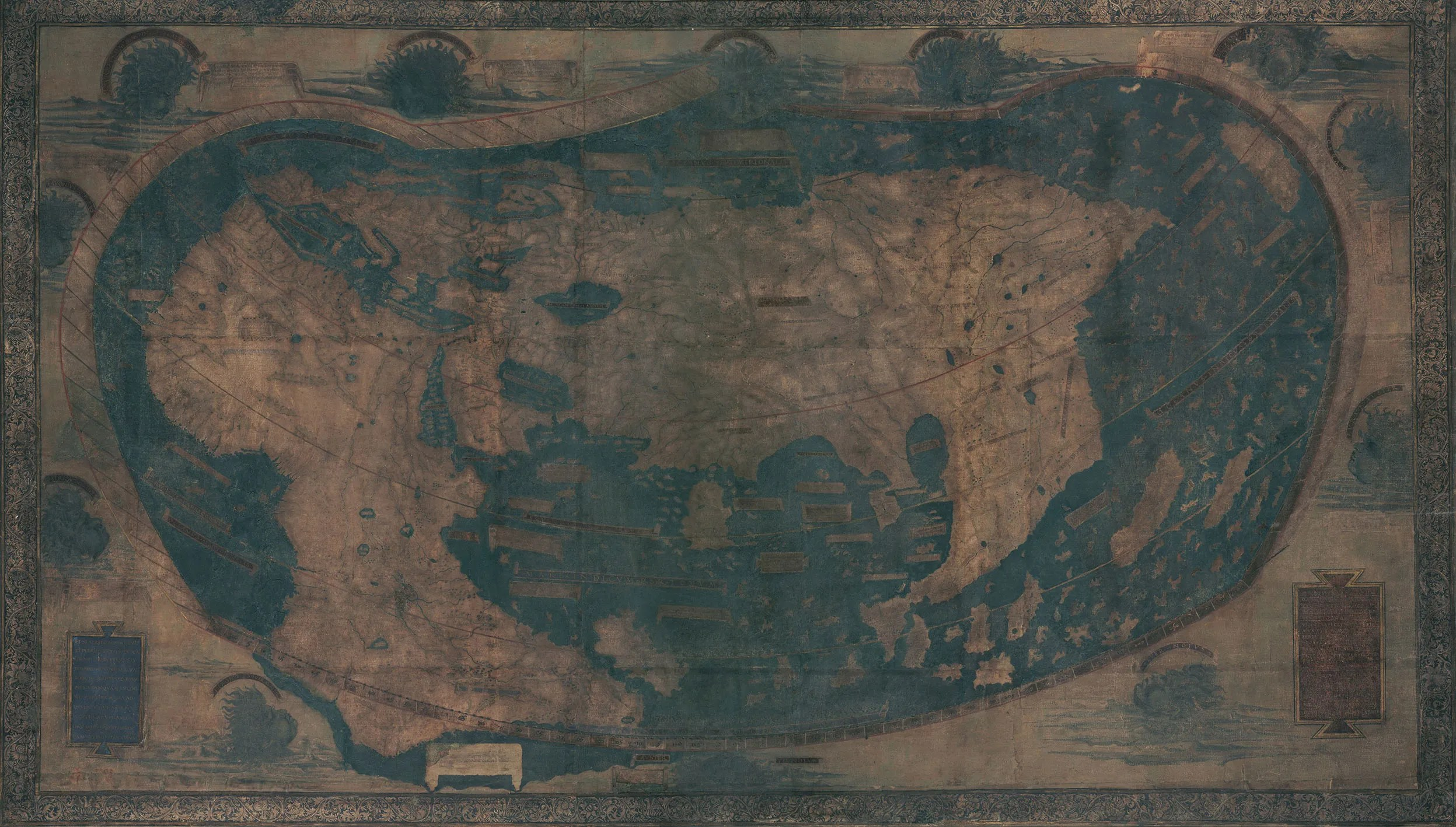 Uncovering Hidden Text On A 500 Year Old Map That Guided