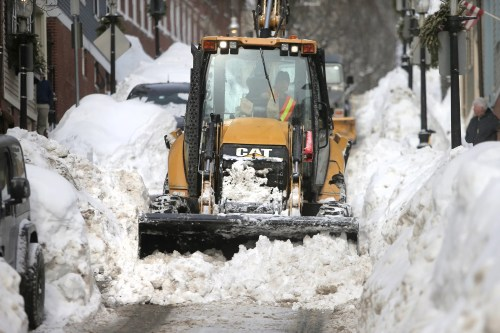 small resolution of plow driver j j giugliano jr battles the snow on pleasant street near monument square in charlestown