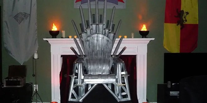 game of thrones office chair ideas for covers how to make your own iron throne from a lawn wired