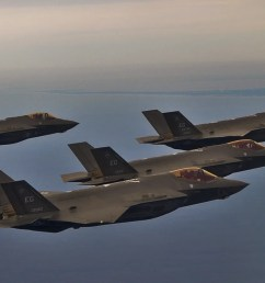 air force f 35s fly in formation over eglin air force base in florida  [ 1713 x 899 Pixel ]
