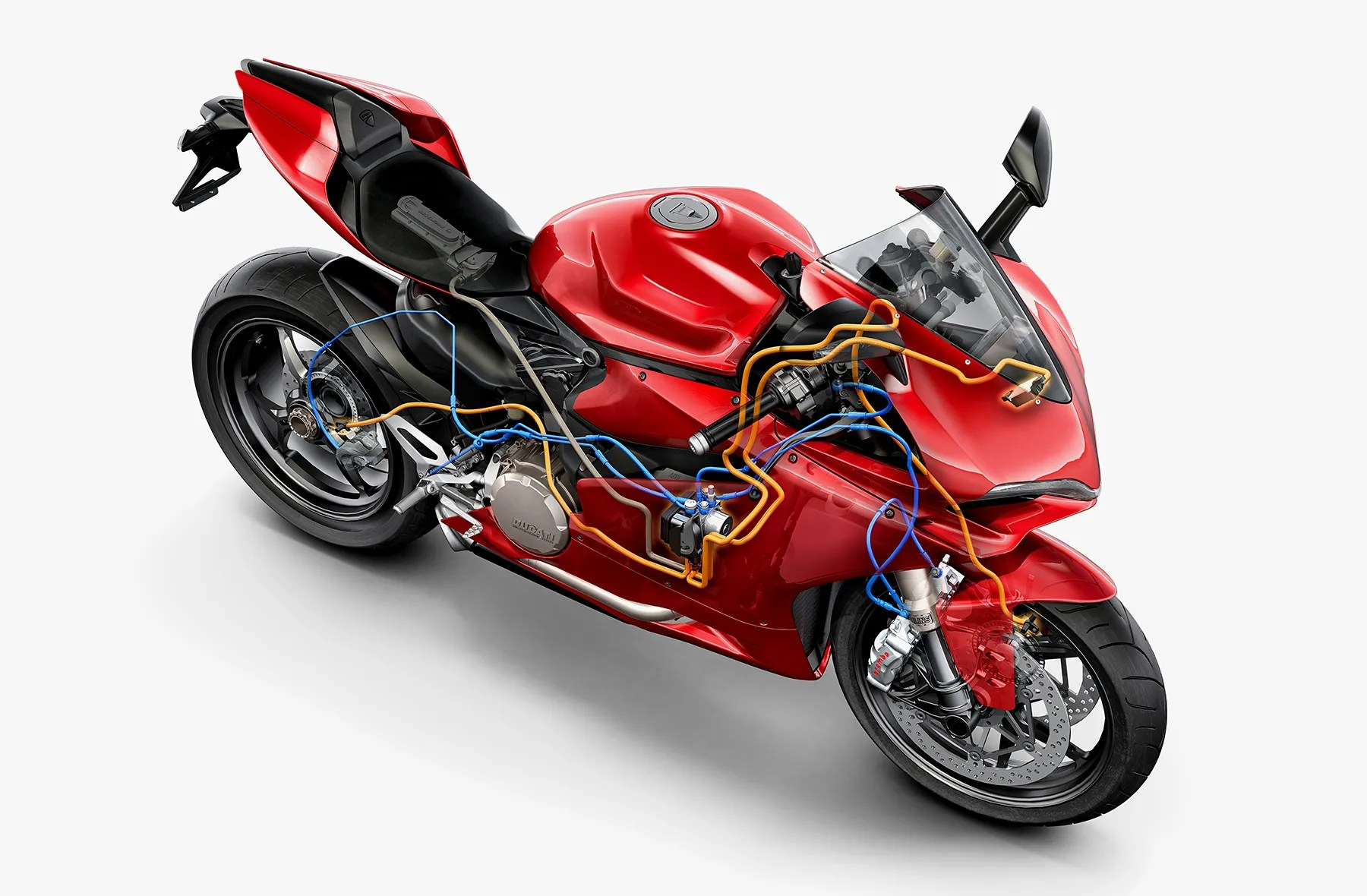 hight resolution of new ducati stability system makes crashing near impossible