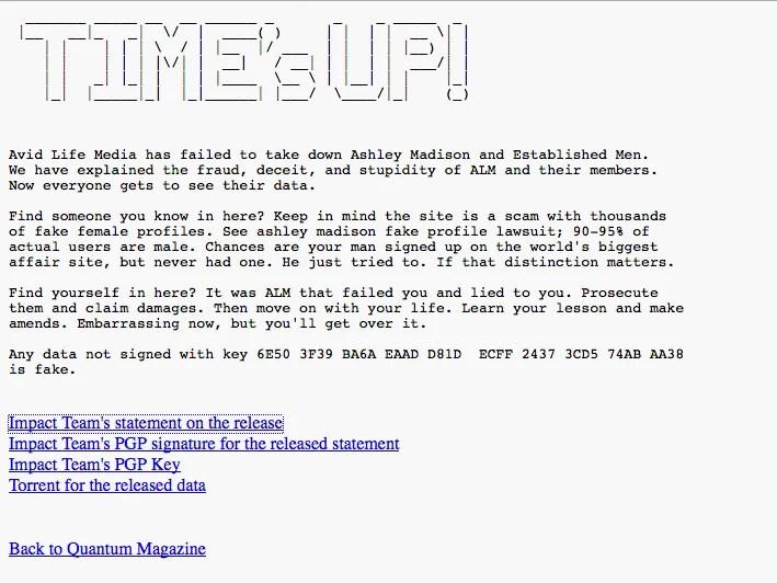 hackers finally post stolen