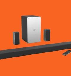 review vizio smartcast soundbar and surround speakers [ 2400 x 1800 Pixel ]