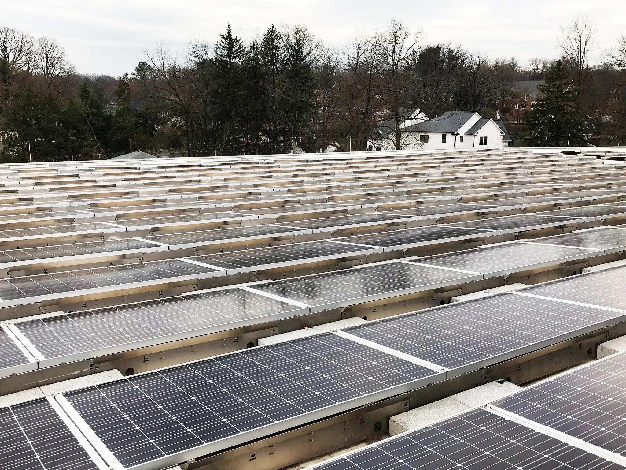 solar panels power new