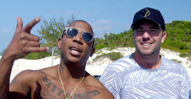 An image of rapper Ja Rule and his Fyre Festival business partner Billy McFarland from the Netflix documentary *Fyre: The Greatest Party That Never Happened*.
