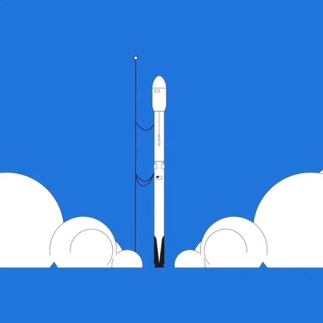 Rocket sur le point de décoller