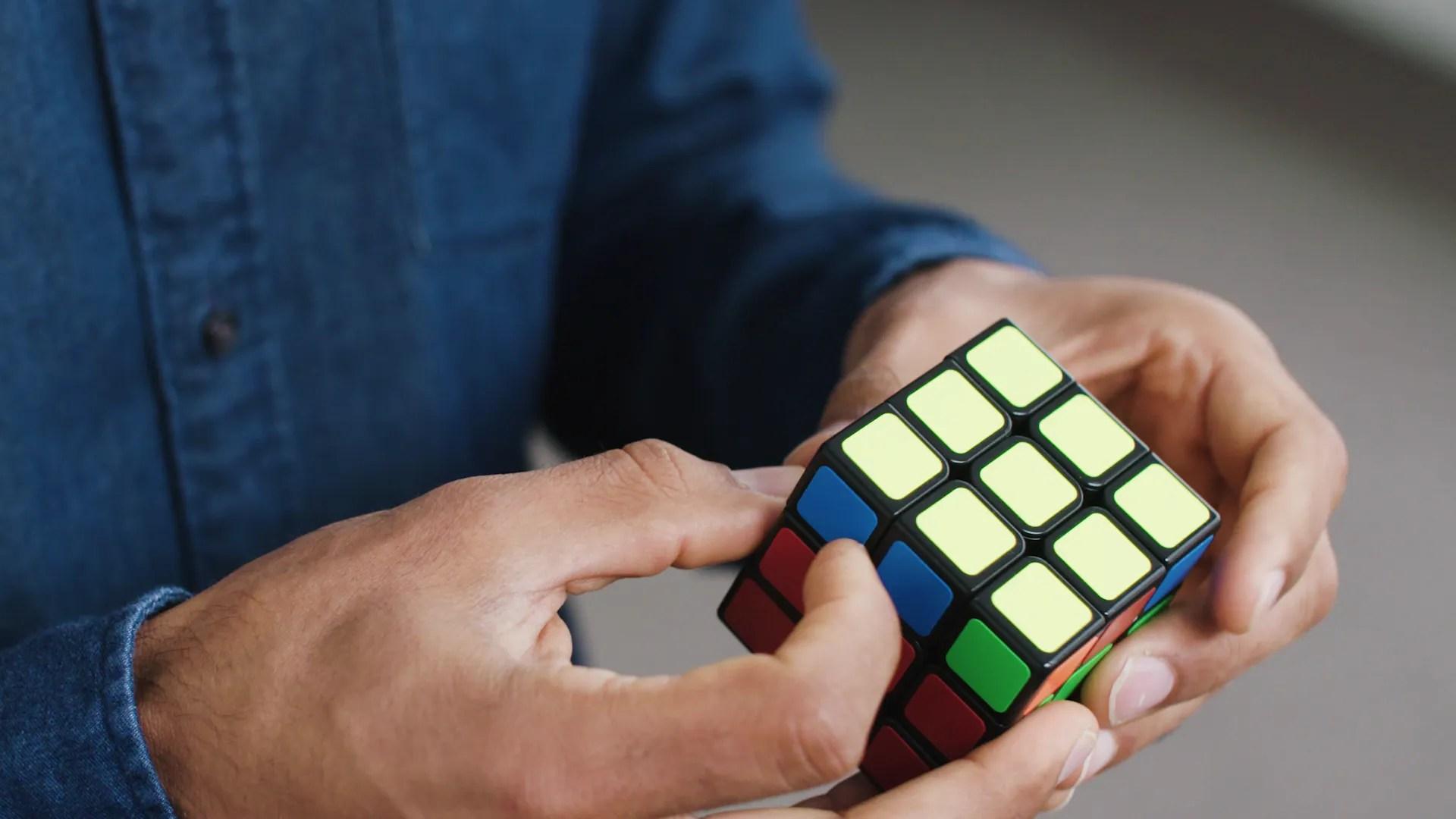 hight resolution of solve rubik cube diagram