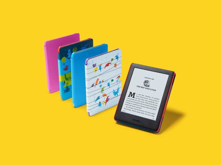 amazon Kindle in five colors