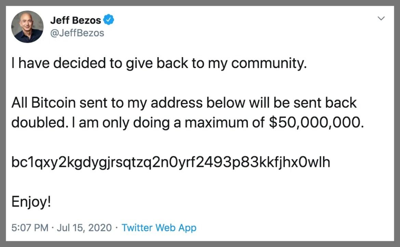 screenshot of Jeff Bezos tweet