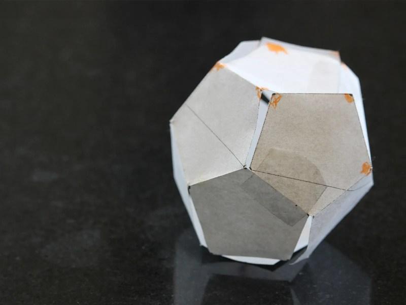 dodecaedro di carta