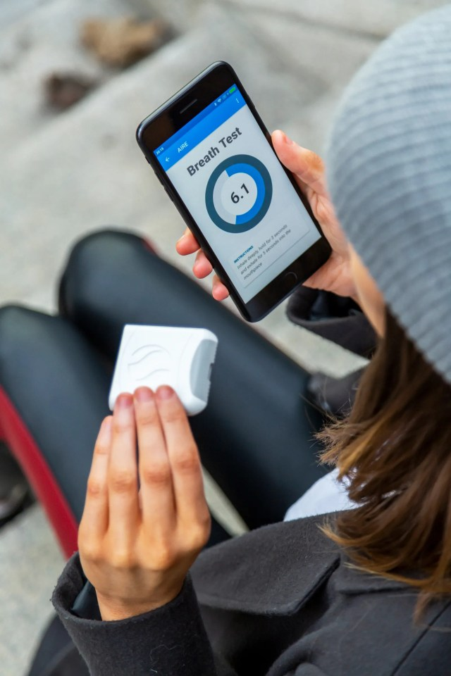 pThe app tracks your breath data and gives you a place to log other diet information.p