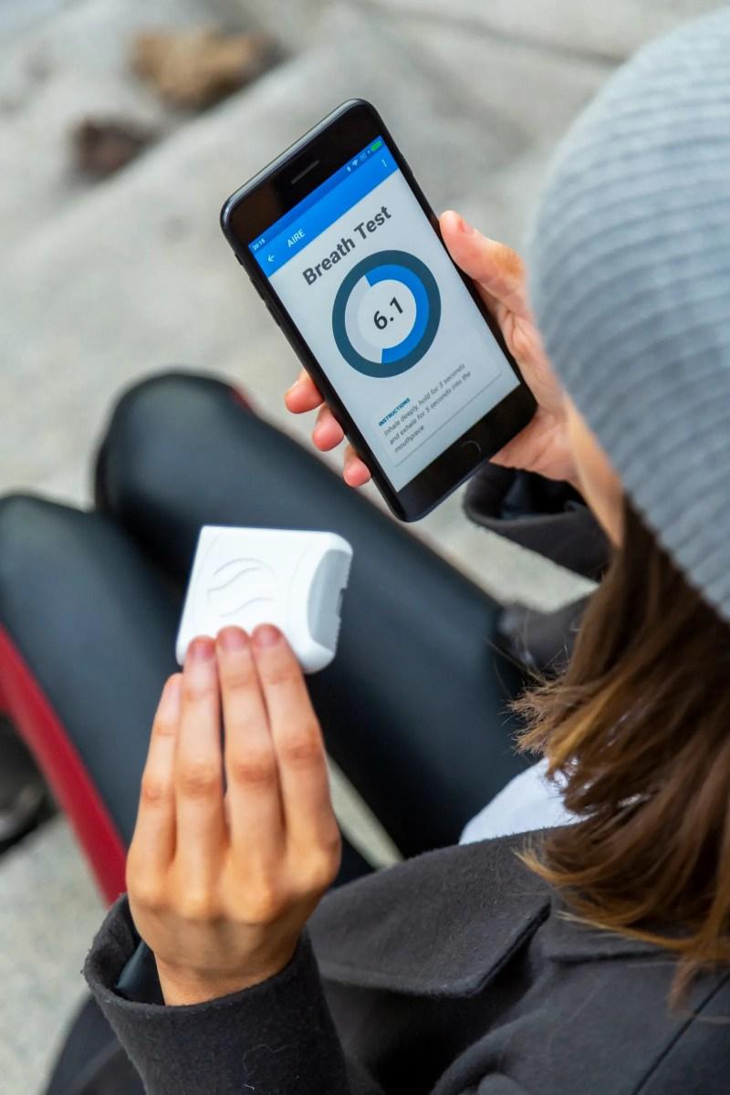 pL'app tiene traccia dei dati del tuo respiro e ti offre un posto dove registrare altre informazioni sulla dieta. p