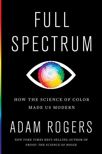 cover of the book Full Spectrum containing an illustration of an eye with a color chart as the iris and pupil