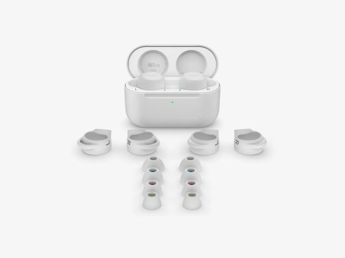 Amazon Echo Buds and ear tips