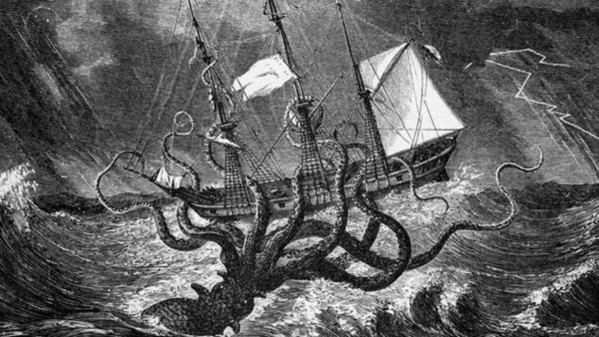 No il gigantesco e leggendario Kraken non  esistito
