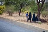 Unga massajer på vandring, Tanzania