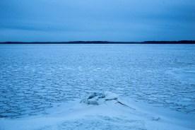Isformationer vid Andrasjön.