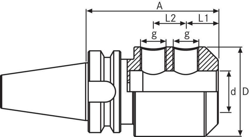 ORION Weldon BT50 D12 A100 ISO 7388-2, type JD/JF