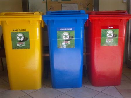 Postwink Colourcoded Wheelie bins for Recycling