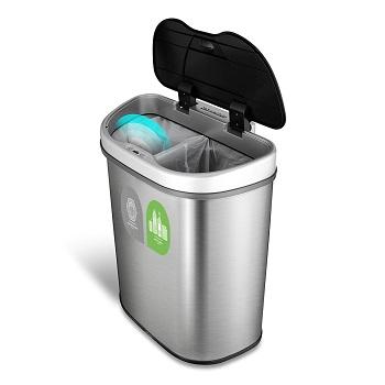 kitchen recycle bin ebay cabinets postwink recycling bins sesame sensor touchless open