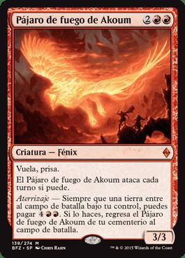 Pájaro de fuego de Akoum