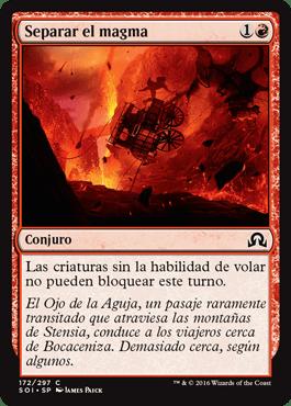 Separar el magma