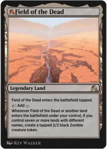 MTG Arena rebalanced card of Field of the Dead