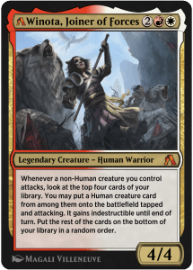 MTG Arena rebalanced card of Winota, Joiner of Forces
