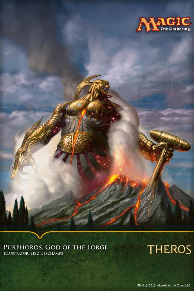 Mtg Iphone Wallpaper Wallpaper Of The Week Purphoros God Of The Forge Magic