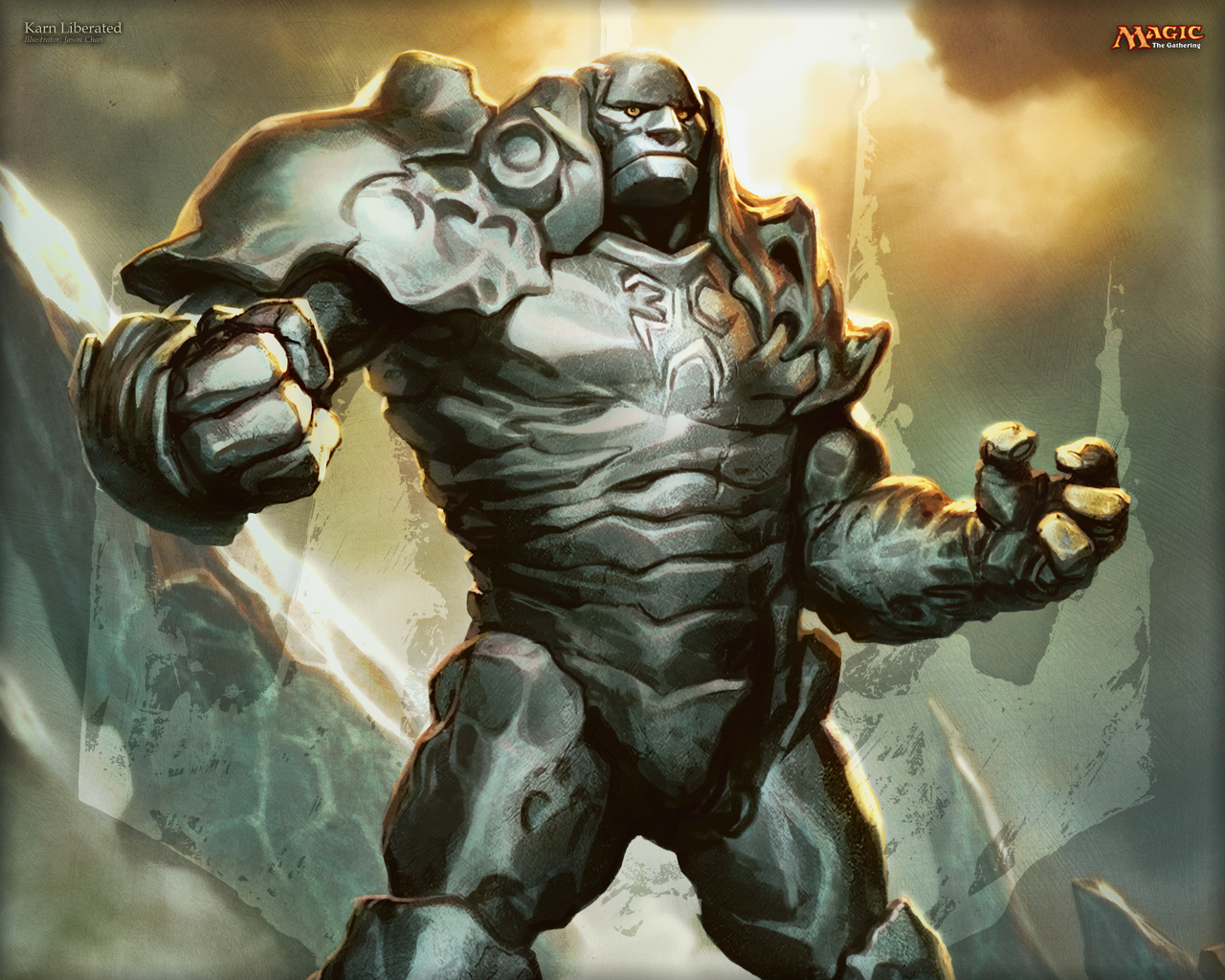 Silver Iphone Wallpaper Wallpaper Of The Week Karn Liberated Magic The Gathering