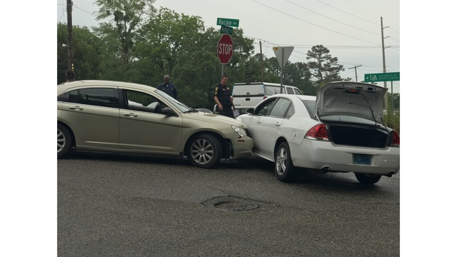Mobile Police officer involved accident on Moffett Road