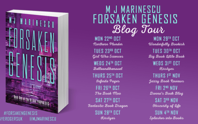 A Day in the Life of Me – Guest Post by M. J. Marinescu [Forsaken Genesis Blog Tour]