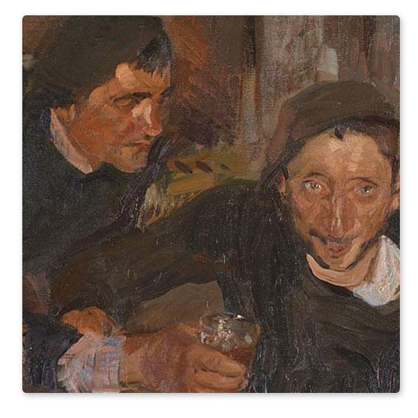Detail from Joaquín Sorolla, 'The Drunkard, Zarauz (El Borracho, Zarauz)', 1910 © The National Gallery, London