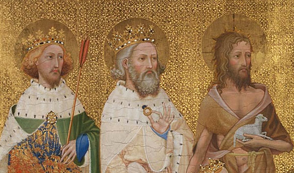Detail from English or French (?), 'The Wilton Diptych', about 1395-9 © The National Gallery, London